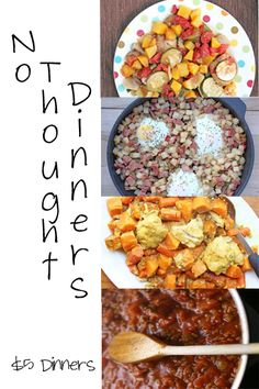 No Thought Dinner Ideas ~   What's Yours? | 5DollarDinners.com