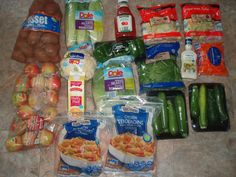Check out what my sister, Brigette, got at the grocery store for just $62 this week + see what her family of 6 is eating this week...