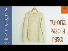 Jersey Unisex tejido en dos agujas en todas las tallas - Soy Woolly - YouTube Knitting Videos, Crochet Videos, Knit Crochet, Crochet Patterns, Men Sweater, Sweaters, Cardigans, Pullover, Unisex