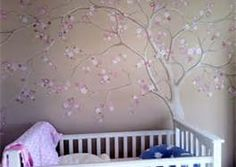 The baby nursery room should have a pleasant and happy environment. There are so many ideas to decorating your baby nursery room. Baby Bedroom, Nursery Room, Girl Nursery, Girls Bedroom, Nursery Decor, Nursery Murals, Whimsical Nursery, Nursery Ideas, Wall Murals