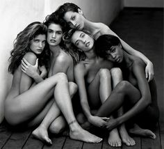 Herb Ritts, 'Stephanie, Cindy, Christy, Tatjana, Naomi, Hollywood,' 1989, Edwynn Houk Gallery