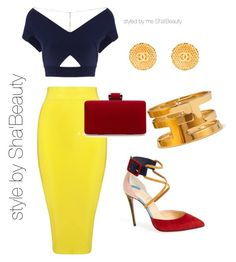 """""""Untitled #5"""" by shaunmyers on Polyvore featuring Posh Girl, Roland Mouret, Christian Louboutin, Chanel and Forever 21"""