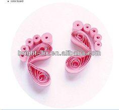 Quailing baby feet