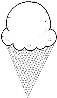 Ice cream cone templates. Help your child learn upper and lower case letters by matching ice cream scoops!