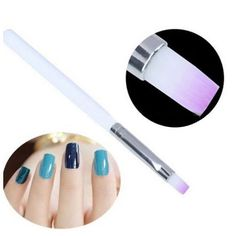 1Pc Nail Art DIY Acrylic UV Gel Design Pen Polish Painting Brush White Bar Purple Hair Manicure Tool Kit
