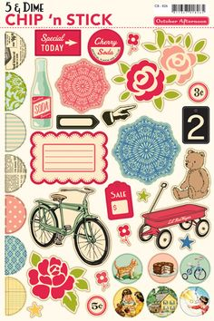 5 & Dime Chipboard Shapes