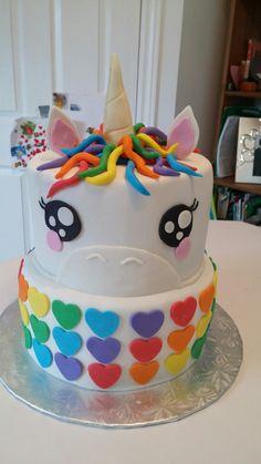 Unicorn cake, rainbow cake Cake Rainbow, Rainbow Birthday, 9th Birthday, Birthday Parties, Birthday Cakes, Best Birthday Cake Recipe, Unicorn Cupcakes, Kids Meals, Fondant
