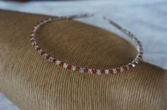 Red Crystal Magna Swarovski Crystal Tiara by Makewithlovecrafts, £19.99