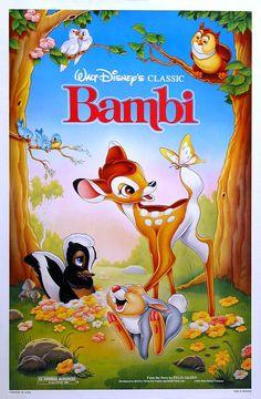 Bambi - Disney who doesn't love Bambi?? He's cute!