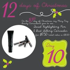 Day 10: Mary Kay Facial Highlighting Pen & Concealer for $17.50 only today, 12/21/12. You will save 37.5% off regular price $28.00... www.MaryKay.com/Heathet_Klaus