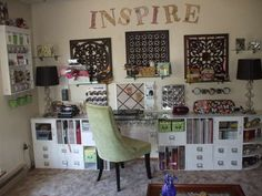Small Art Studio Design Ideas | Classic Scrapbook Room Design Sky ...