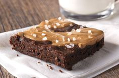 Marcus Samuelsson's Salty Marbled Chocolate-Peanut Butter Brownies recipe