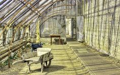 Old Victorian Conservatory, Greenhouse in the Middle of Restoration