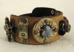 401 Celestial Steampunk Burning Man Assemblage Bracelet