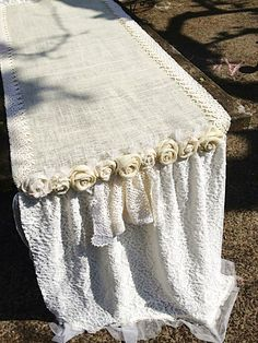Burlap Table Runner Wedding Reception Table by FarmHouseFare
