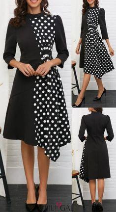 Designer dresses - Shop for designer dresses Trendy Dresses, Women's Fashion Dresses, Hijab Fashion, Dress Outfits, Nice Dresses, Casual Dresses, Vetement Fashion, Batik Dress, Vestidos Vintage