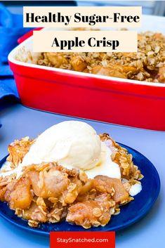 Apple Recipes No Sugar, Sugar Free Apple Pie, Sugar Free Baking, Apple Crisp Recipes, Sugar Free Recipes, Low Calorie Apple Crisp Recipe, Diabetic Apple Crisp Recipe, Sugar Free Apple Butter Recipe, Apple Crisp Easy