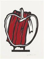 Red Apple (Study) by Roy Lichtenstein