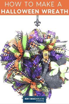 DIY Halloween Wreath Tutorial (+Video!) - How to Make Wreaths - Wreath Making for Craftpreneurs