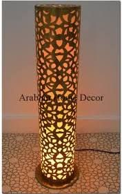 Tall brass moroccan calligraphy cylinder floor lamp cylinder floor lamp google search mozeypictures Gallery