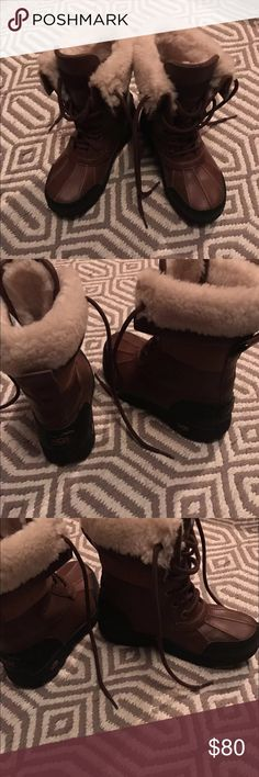 Authentic Ugg Boots These are a pair of excellent condition kids Authentic brown UGG boots, size Girls 1. UGG Shoes