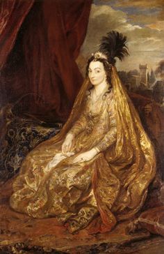 """Portrait of Lady Shirley,1622 by Anthony van Dyck she was originally what they used to call a """"Turk"""". She was Circassian. Found on Jeannedepompadour blog"""
