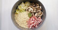 Après le one pot pasta saumon et lait de coco  j'ai essayé une version avec des crozets à la place des pâtes. C'est également délicieux...