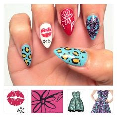 Betsey Johnson inspired nail art