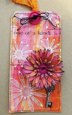 PaperArtsy: 2017 Topic #1: Pink and Orange {Challenge} sample by Tracey Evans; Jan 2017 #paperartsy #traceyevans