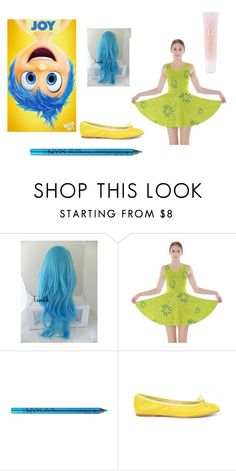 """""""inside out: joy"""" by peace-girl23 ❤ liked on Polyvore featuring NYX, Lancôme, women's clothing, women, female, woman, misses and juniors"""
