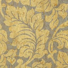 Ceriman Natural Cork Wallpaper A stylish wallpaper with a large scale design of leaves printed in metallic gold and silver on a cork ground. Hints of the cork's natural colour can be glimpsed through the design while small gaps in the surface reveal a layer of gold mylar for a glamorous finish.