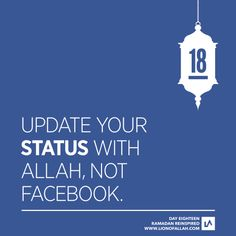 Update your status with Allah