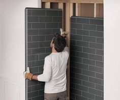 Do you want to update your bathroom, but don't have the time or skills to do it yourself? Utile Shower Wall Panels are perfect for you! They're designed to look like traditional tiles, but minimal work and disruption. Bathtub Walls, Bathroom Paneling, Bathroom Wall Panels, Shower Wall Panels, Bathtub Wall Surround, Master Bathroom Shower, Diy Shower, Walk In Shower, Small Bathroom