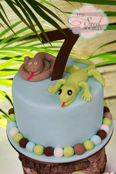 Snakes, lizards, alligators, Reptiles Birthday Party Ideas | Photo 3 of 20 | Catch My Party