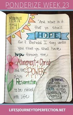 Ponderize Week 23 Moroni 7:41 Scripture study!!