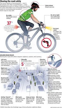 Important tips on bicycle safety and sharing the road.