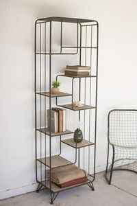 Kalalou Multi Level Wood And Metal Shelving Unit : Product Description Product Dimensions: x x T Sold in Boxes of: 1 Each. Diy Furniture Plans, Farmhouse Furniture, Rustic Furniture, Furniture Makeover, Home Furniture, Furniture Stores, Industrial Metal Shelving, Metal Shelving Units, Rustic Shelves