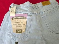 NWT LEE RELAXED FIT SKYLITE BLUE 100% Cotton 12L LONG MISSES JEANS USA MADE
