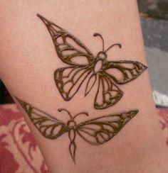 henna butterflies