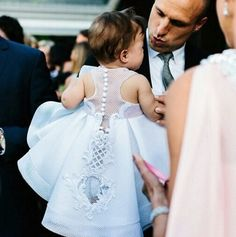 Most incredible flower girl dress Little Girl Dresses, Girls Dresses, Flower Girl Dresses, Little Girl Fashion, Kids Fashion, Kids Frocks, Christening Gowns, Baby Girl Christening Dress, Baptism Outfit