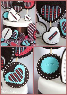 Galletas de chocolate decoradas