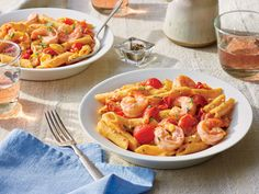Pasta with Shrimp and Tomato Cream Sauce Recipe - Southern Living - MasterCook Seafood Dishes, Pasta Dishes, Seafood Recipes, Cooking Recipes, Pasta Sauces, Prawn Recipes, Healthy Recipes, Meat Recipes, Healthy Meals