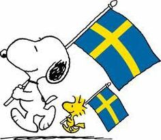 Snoopy and Woodstock Swedish Girls, Swedish Style, Scandinavian Style, Sweden Flag, Norway Flag, Visit Sweden, Swedish Christmas, Sweden Travel, Charlie Brown And Snoopy