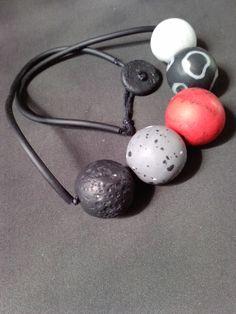 Irena Ryszkiewicz- polymer clay bead necklace.