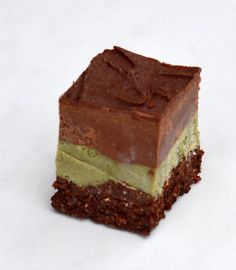 Raw Chocolate Mint Slice