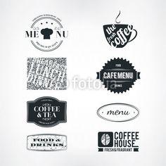 Vektor: Label set for restaurant and cafe