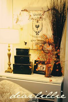 Dear Lillie: Fall Decorating from Last Year