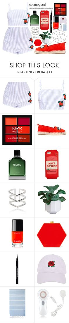 """""""298 / hang up your wings"""" by doing-fine-thanks ❤ liked on Polyvore featuring NYX, Anya Hindmarch, Armani Beauty, Kate Spade, Astrid & Miyu, Chanel, Edie Parker, Givenchy, Armitage Avenue and Turkish-T"""