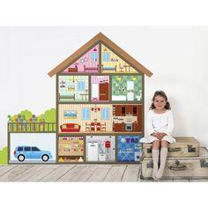 Casa de muñecas, vinilo decorativo