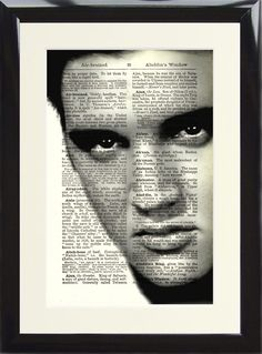 Elvis Presley King of Rock n Roll Dictionary Art Print Picture Music Hound Dog